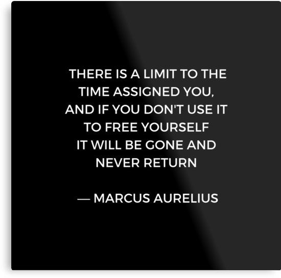 'Stoic Inspiration – Marcus Aurelius on Time' Metal Print by IdeasForArtists
