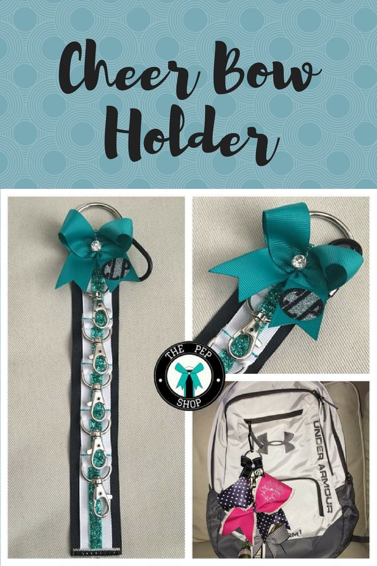 $16.99 Organize cheer bows with Cheer Bow Holder Klinger™️ for backpack! Personalized, Cheerleading, Cheer Accessories