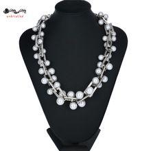 Бренд дизайнер жемчужное ожерелье ожерелья и подвески для женщин мода себе ожерелье 2016 люкс большой ожерелье ювелирных изделий(China (Mainland))