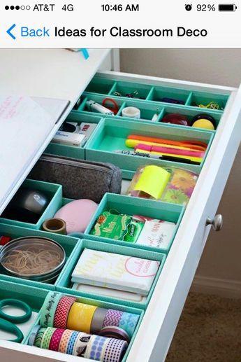 25 best ideas about teacher desk organization on - School desk organization ideas ...