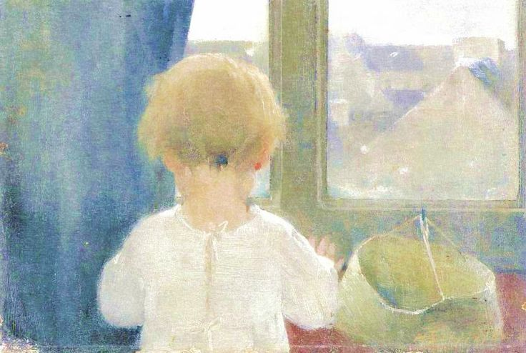 """The Neck of a Little Girl"" by Helene Schjerfbeck (1862-1946).  I find this painting absolutely adorable."
