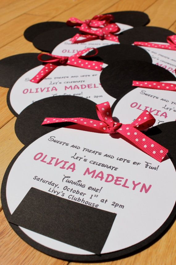 Minnie version of invites (not sure which I like better!)