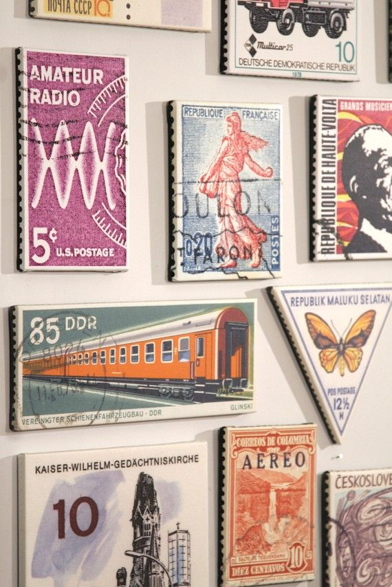 large-scale stamp art