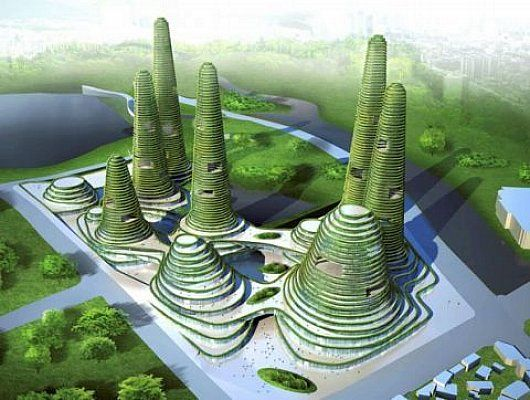 Green+Building | Centre, green building eco-city by MVRDV Green landscape building ...