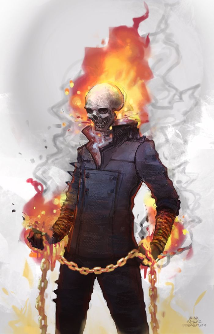 Ghost Rider by IrinaEihwaz.deviantart.com on @DeviantArt