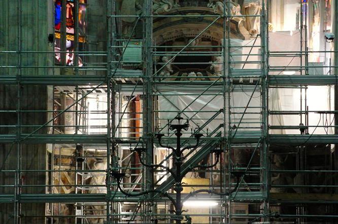 I Grandi Cantieri -  Interventi di restauro all'interno del #duomodimilano #milancathedral