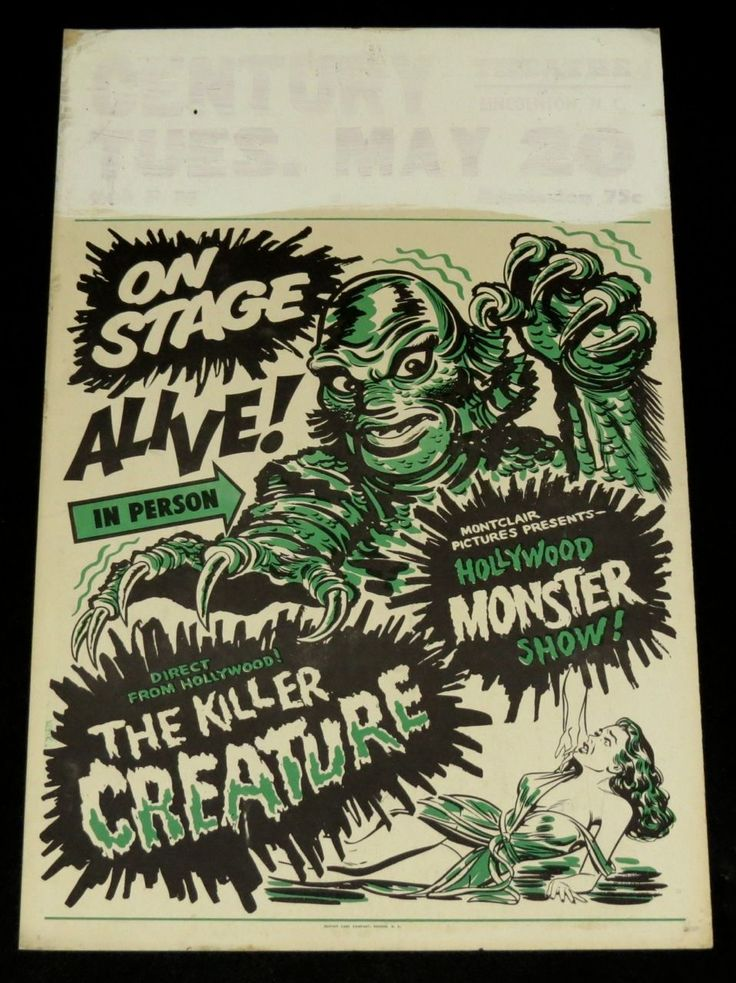 Creature from The Black Lagoon Pat Patterson Jr Live Spook Show Window Card | eBay