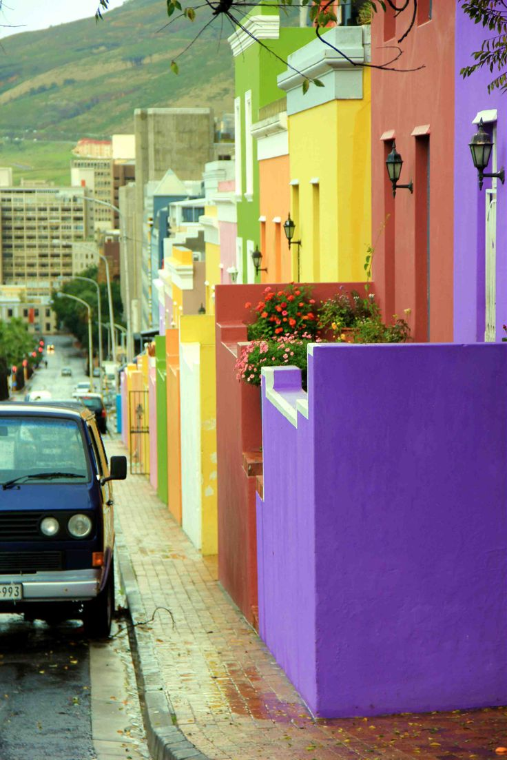 BoKaap neighborhood of Cape Town. Lovely colours. BelAfrique - your personal travel planner - www.BelAfrique.com