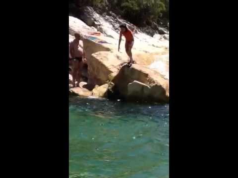 Baño en el rio Borosa (Cazorla). Julio 2014