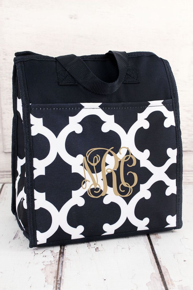Navy and White Moroccan Insulated Lunch Tote #CC18-11-BLUE