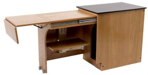 sewing cabinet idea to save space. This would be awesome for school!