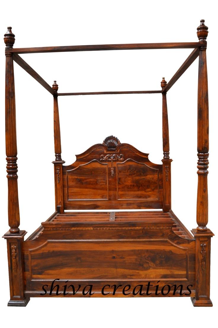 Bed home sheesham wood furnitures bed - Find This Pin And More On Sheesham Wood Furniture India Carved Sheesham Wood Poster Bed