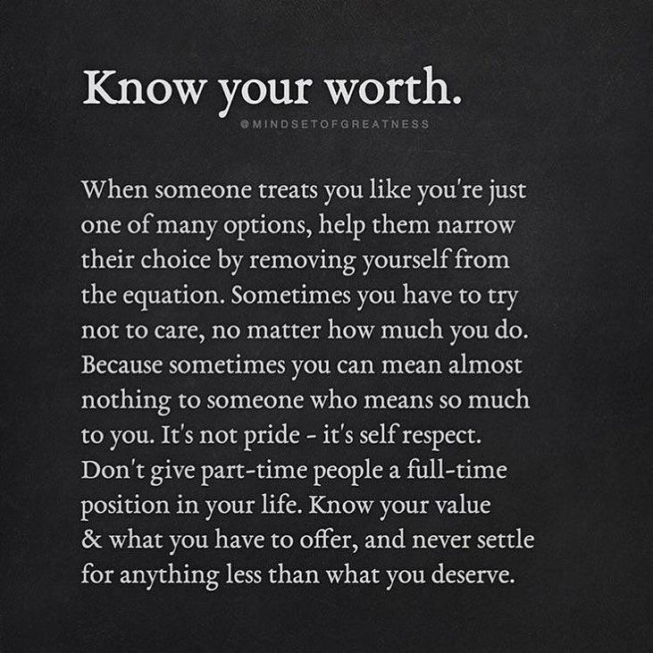 Image may contain: text that says \'Know your worth ...