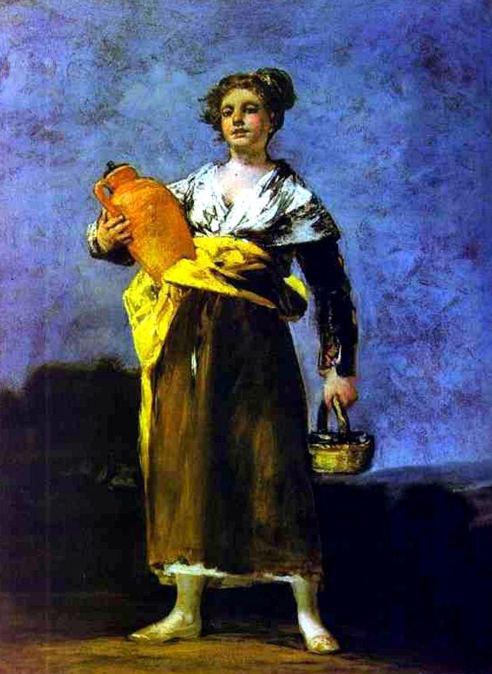 Francisco de Goya. Girl with a Jug (Aguadora). Oil on canvas, 68 x 50.5