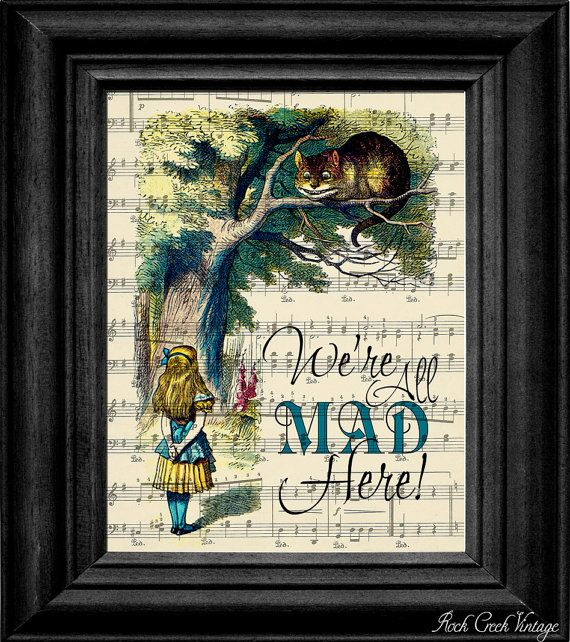 Perfect for my wall. Alice In Wonderland Print by rockcreekvintage.