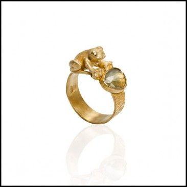 Linda Kindler Priest - Frog Ring