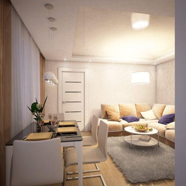 Дизайнер создала уютную зону кухни-гостиной и увеличила площадь спальни Вместо тесной квартиры с лишними перегородками и нефункциональными зонами получилось просторное, не лишенное уюта пространство