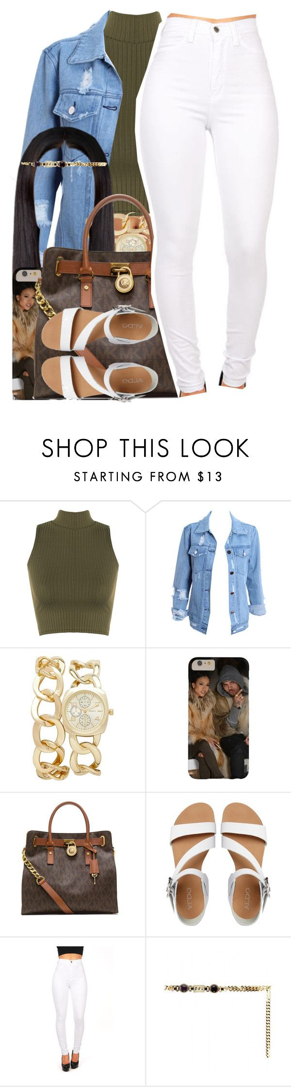 """Chris Brown / Back To Sleep"" by nasiaamiraaa ❤ liked on Polyvore featuring WearAll, Forever New, MICHAEL Michael Kors, ALDO, Alessandra Rich and NanaOutfits"