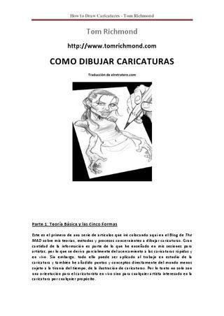 COMO DIBUJAR CARICATURAS  manual para dibujar