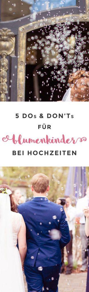 5 Do's & Don'ts für Blumenkinder bei Hochzeiten