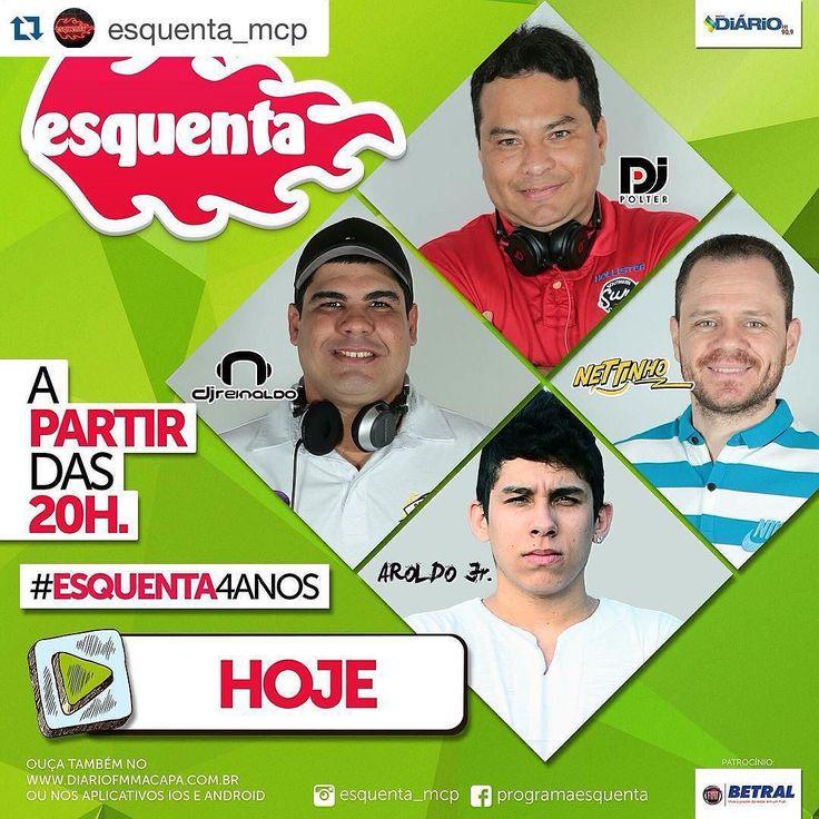 #Repost @esquenta_mcp with @repostapp.   Hoje é dia de fritar tudo no melhor programa de dance music do norte do Brasil. A partir das 8h da noite você vai dançar com os djs @djreinaldo_  @djpolter  e o convidado da noite @djraroldojr  no comando do programa o nosso locutor da alegria @pulsenettinho .  Programa 100% ao vivo. Escute sem moderação!! #technics #serato #live #radio #HouseMusic #DeepHouse #ProgressiveHouse #IndieDance #NuDisco #EDM #FutureHouse #Ghouse #underground #emusic…