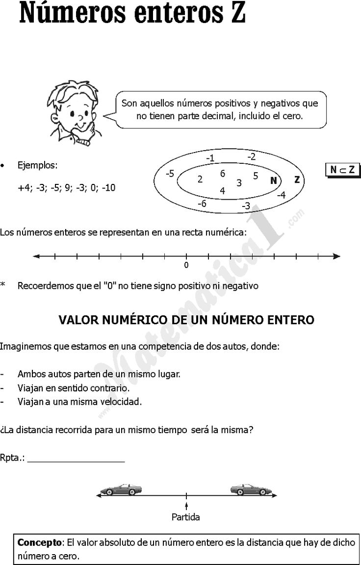 CONJUNTO DE LOS NUMEROS ENTEROS EJERCICIOS PDF ~ MATEMATICA PREGUNTAS RESUELTAS