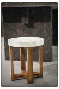 PTMD - Marble cream stool round #marmer #marmeren #marble #stool #kruk #bijzettafel #sidetable @ptmdcollection