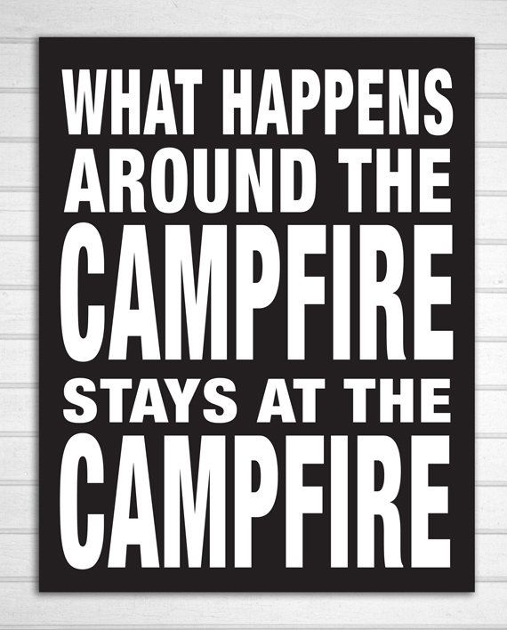 Rustic Cabin Campfire Wood Sign by ZietlowsCustomSigns on Etsy, $24.00