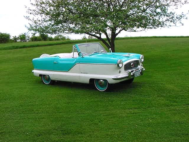 1959 Nash Metropolitan Convertible (OMG! It DOES come in a convertible! This is, without a doubt, my ideal car!)