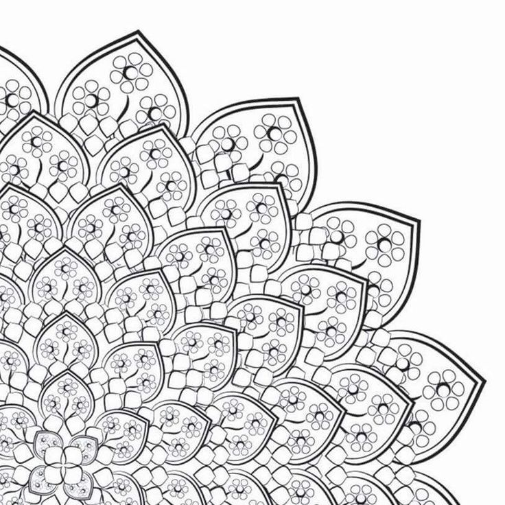 Mandala 1 FREE Coloring Page For Adults Stress Relief Flowers Mandalaflower