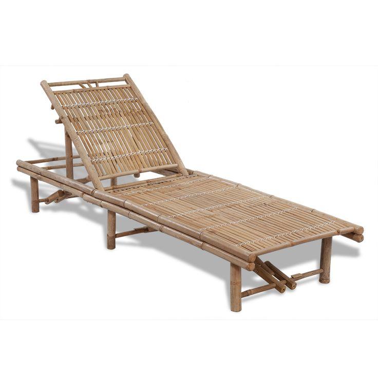 Solsäng bambu justerbar