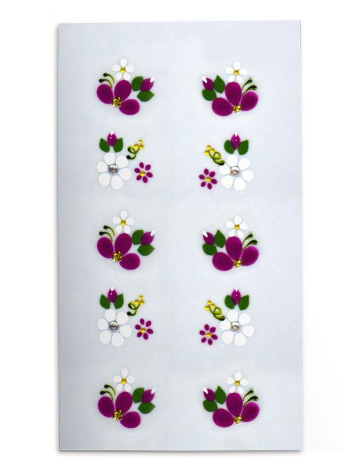 Adesivos Artesanais Flores Roxa e Branca