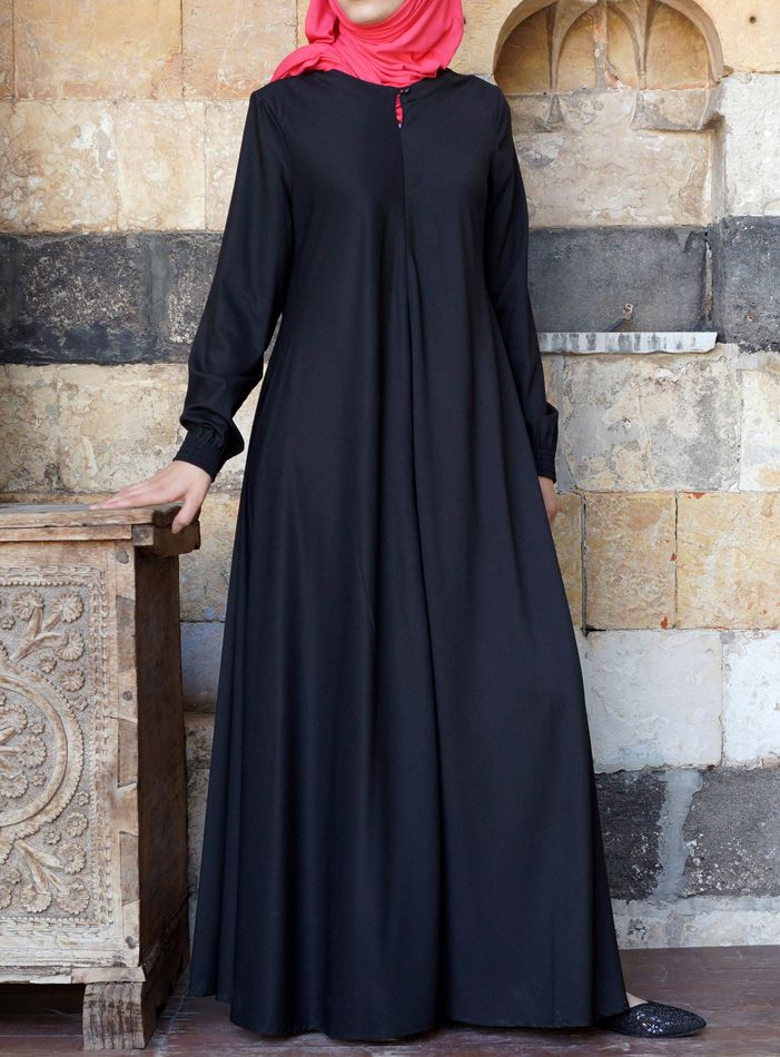 PINNED BY @MUSKAZJAHAN - SHUKR USA | Easy Ca  re Flared Abaya
