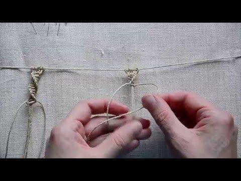 Macrame first steps, basic knots #2 (Spiral Knot) - YouTube