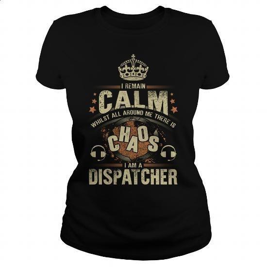 Dispatcher - #tee #funny graphic tees. BUY NOW => https://www.sunfrog.com/Jobs/Dispatcher-122186917-Black-Ladies.html?60505