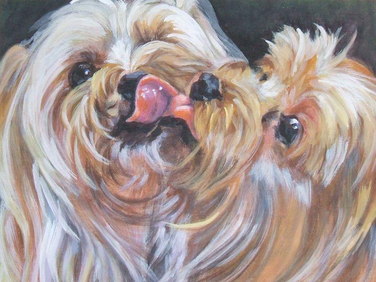 Yorkshire Terrier yorkie hond kunst CANVAS print van LA Shepard schilderij 12 x 16 door TheDogLover op Etsy https://www.etsy.com/nl/listing/50757170/yorkshire-terrier-yorkie-hond-kunst