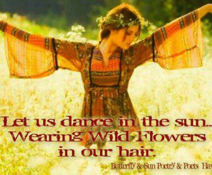 Hippie Quote I Heart The 60s Pinterest Flower Peace