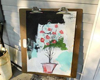Home Decor, PTSD Awareness, Mixed Media Art, Abstract Art, Floral Art, Whimsical Art, Wall Art, Acrylic Painting, Interior Design, Farmhouse