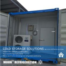LUNE solaire alimenté congélateur et air refroidisseur congélateur pour conteneur 40ft
