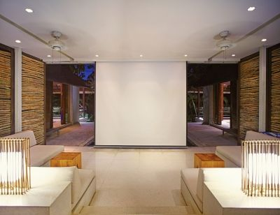 The Lounge is equipped with an automated retractable projector screen. Perfect for a Hollywood blockbuster or the Big Match.