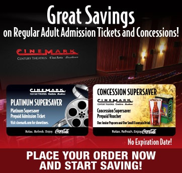 Cinemark concession coupons