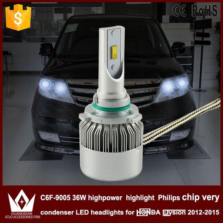 27.89$  Watch here - http://alijii.shopchina.info/1/go.php?t=32728216591 - Night Lord 2pcs car led Headlight High BEAM condenser C6F 6000K 9005 HB3 car head light for Honda Elysion accessories 2013-2015  #buyininternet