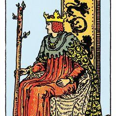 Der König der Schwerter – deine Tarotkarte   Tarot karten ...
