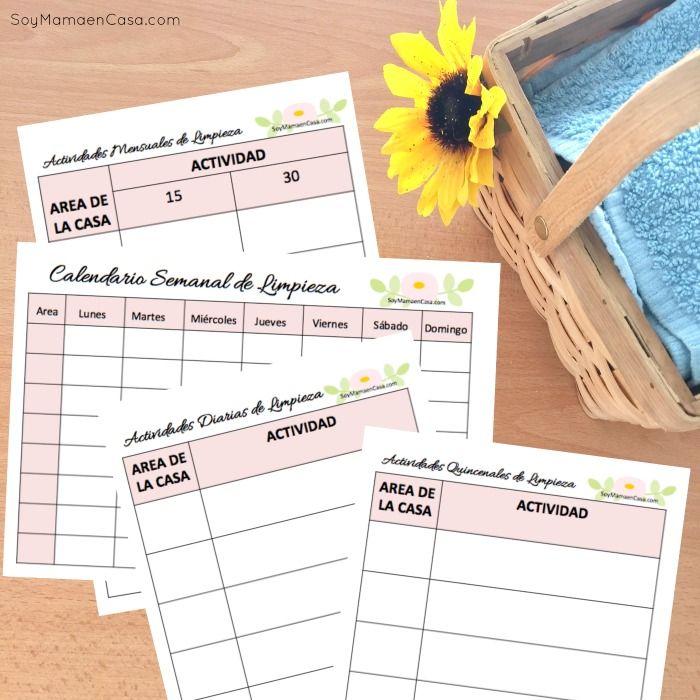 Calendarios de limpieza del hogar organizacion - Hacer limpieza en casa ...