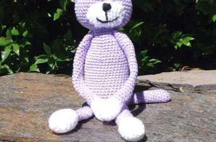 Purple Crochet Amineko Cat from Purple Patch Art and Crafts