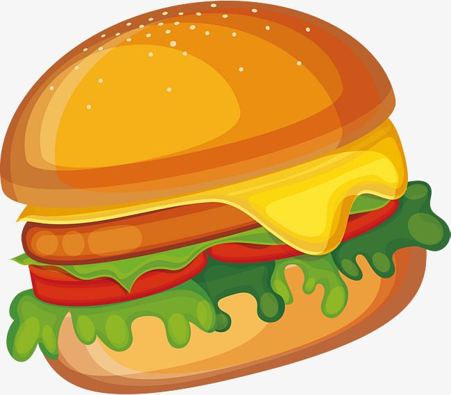 Creative Cartoon Burger Vector Material Food Clipart Cartoon Creative Png Transparent Clipart Image And Psd File For Free Download Burger Vector Burger Cartoon Burger Images