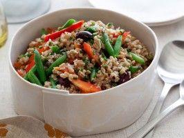 Mediterranean Farro Salad : Recipes : Cooking Channel