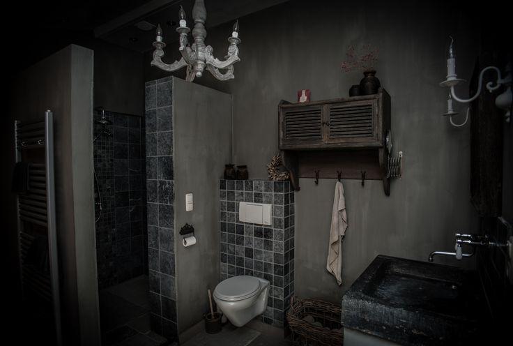 Landelijke badkamer met een hoffz inrichting landelijke badkamer pinterest met - Badkamer inrichting ...