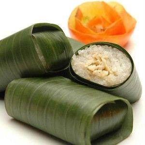 Sticky Rice Rolls or Lemper - Indonesian Dessert