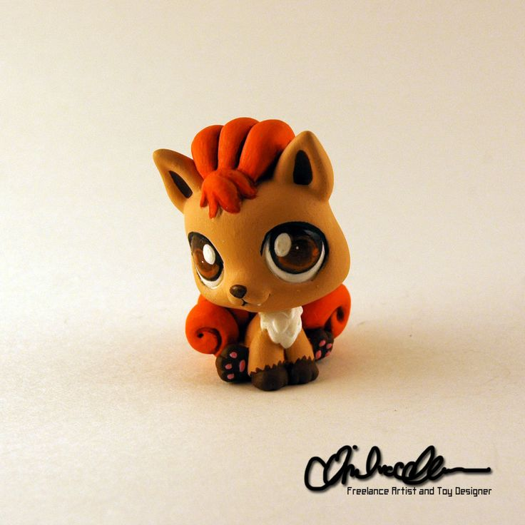 Vulpix custom Littlest Pet Shop by thatg33kgirl.deviantart.com on @DeviantArt